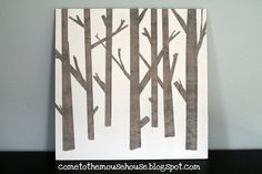 welcome to the mouse house's easy diy wooden tree painting tutorial