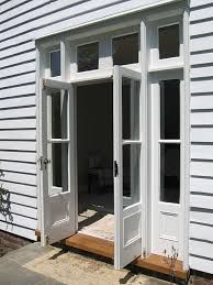 victorian french doors - Google Search - one panel on each lower half