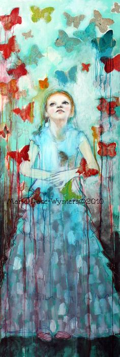 Butterflies Original painting by Maria by MariaPaceWynters on Etsy, $2500.00