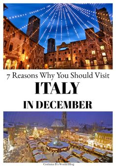7 Reasons Why You Need To Visit Italy In December. Most travelers want to see Italy in the summer months, but December is a truly incredible time to t. Bora Bora, Tahiti, Best Places In Italy, Best Places To Travel, Cool Places To Visit, Travel Pics, Travel Ideas, Christmas In Italy, Christmas Travel