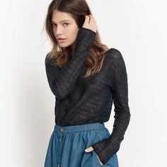 R Studio Womens Linen Openwork Effect Crew Neck Jumper/Sweater Pullover, Sweatshirt, Studio, Pulls, Jumper, Crew Neck, Turtle Neck, Blouse, Sweaters