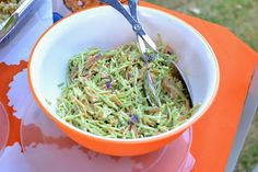 Honey Mustard Broccoli Slaw from @Emily @ LaForce Be With You