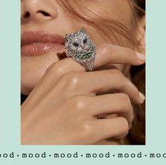 #mood #Boucheron #ParisVuDu26 Marie Claire, Cat Ring, Lady, Mood, Cat Stuff, Diamond, Bracelets, Rings, Jewelry