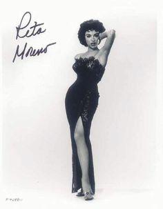 Rita Moreno Old Hollywood Glamour, Golden Age Of Hollywood, Hollywood Stars, Puerto Rican Girl, Puerto Rico, Divas, Rita Moreno, Vintage Black Glamour, Vestidos