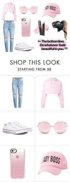 Pretty in Pink by rahi445 on Polyvore featuring F.A.M.T., Converse, Charlotte Russe, Casetify, Matthew Williamson and L.A. Girl