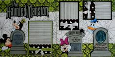 DISNEY - Haunted Mansion - Premade Scrapbook Pages w/ Paper Piecings - SSFF