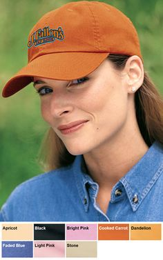8ddeb7f0933 Port Authority Ladies Garment Washed Cap  8.00  Custom  Embroidered  Visors   Hats