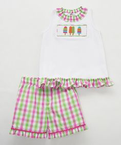 Pink Popsicles Smocked Shorts & Top