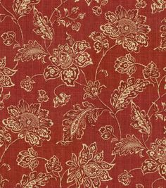 Home Decor Print Fabric-Waverly Everard Damask Ruby Lovely print for living room curtains