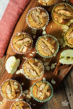 All you want for breakfast is a simple muffin and a Paleo apple pie muffin at that complete with applesauce cinnamon sliced almonds. Paleo Apple Pie, Apple Pie Muffins, Paleo Bread, Paleo Recipes, Low Carb Recipes, Cooking Recipes, Paleo Meal Plan, Paleo Diet, Paleo Baking