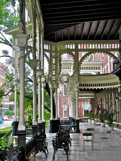 Tampa Bay Hotel (1891) – porch detail. St. Augustine? Is that you? We like you a lot, St. Augustine.