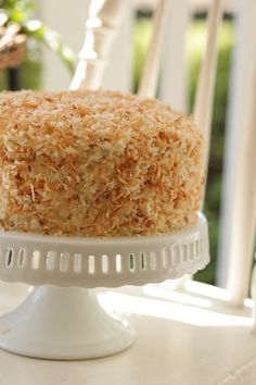 Commissary carrot cake--with pecan cream filling and a toasted, sweetened coconut coating. Talk about yum.