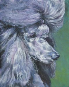 157dbaf369 Standard Poodle dog art portrait PRINT of LA Shepard painting 8x10