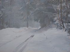 Marc Dalessio: Road in the Snow