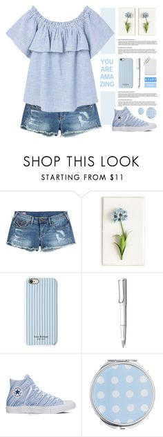 """Summer mornings"" by lana-drazic-posao ❤ liked on Polyvore featuring True Religion, Tommy Mitchell, Isaac Mizrahi, Lamy, Converse, Miss Selfridge and MANGO"
