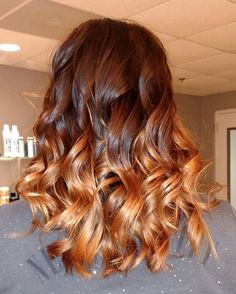 Brown to copper ombre