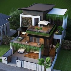 999 Best Exterior Design Ideas You are in the right place about Exterior makeov Modern Small House Design, Small House Exteriors, Bungalow House Design, House Front Design, Dream House Exterior, Modern House Plans, Modern Architecture House, Architecture Design, House Plans Mansion