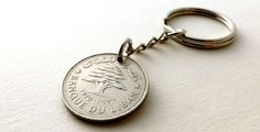 Lebanese Coin keychain Mens gifts Vintage keychain by CoinStories