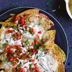 This gotta-have game-day Bean Dip Nachos dish is super duper delicious AND #vegetarian!