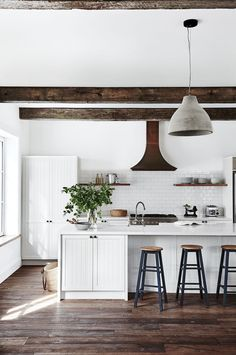 White French Farmhouse kitchen