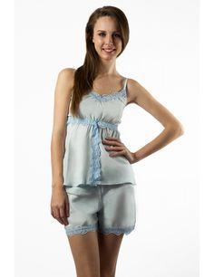Zega Store - Pijamale Mushroom, culoarea bleu - Femei, Pijamale Rompers, Dresses, Fashion, Gowns, Moda, Jumpsuits, Fashion Styles, Romper Clothing, Romper Suit