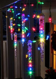 Led Christmas Icicle Lights for 2013 Christmas, 2013 Porch Christmas Icicle Lights, Colorful Led Christmas Icicle Lights