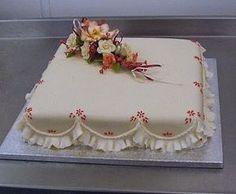 Simple Wedding Cake Buttercream With Fondant Flowers. View 4 And 5 Tier Wedding Cake Options. Wedding Sheet Cakes, Birthday Sheet Cakes, 90th Birthday, Cupcakes, Cupcake Cakes, Pretty Cakes, Beautiful Cakes, Slab Cake, Bolo Floral
