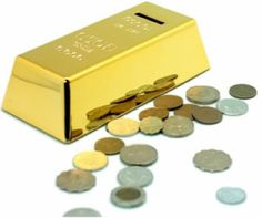 Gold Bullion Piggy Bank