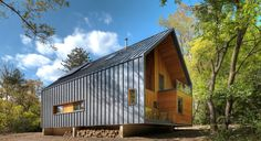 Metal Siding House Pictures The Matchbox By Bureau For Architecture And Images Exterior Houses Vertical Modern House Cladding, Metal Cladding, Metal Siding, Green Architecture, Residential Architecture, Architecture Design, Installation Architecture, Architecture Interiors, Urban Cottage