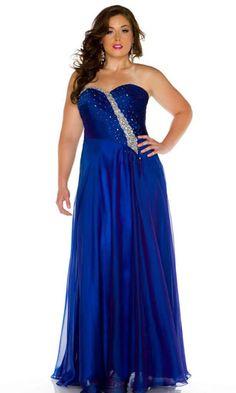 plus size prom dress