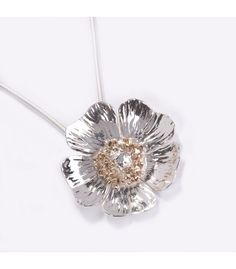 Hallmarked sterling silver pendant handmade in Sligo by The Cat and the Moon. Pendant is inspired by the beauty of a wild Irish briar rose. Irish Jewelry, Fine Jewelry, Wild Irish Rose, Briar Rose, Moon Jewelry, Sterling Silver Pendants, Belly Button Rings, Jewelery, Handmade Jewelry