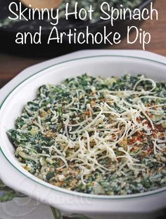 """I recommend this without the low fat cottage cheese.  Just use regualr.  Of course it's more calories but """"low fat"""" usually means chemicals.  Skinny Hot Spinach and Artichoke Dip © Jeanette's Healthy Living"""