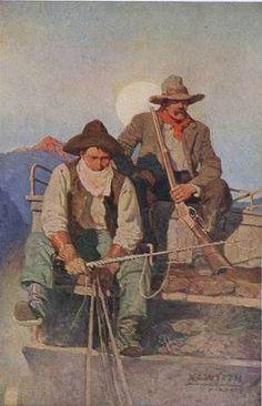 Scribners 66 1919 The Pay-stage Canvas Art - Newell C Wyeth x Jamie Wyeth, Andrew Wyeth, Nc Wyeth, Into The West, West Art, Cowboy Art, Le Far West, Mountain Man, American Artists
