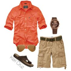 Men's Summer Fashion // Color // Cargo Short // Dress Watch