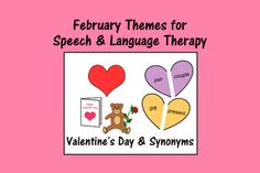 Speech Therapy Ideas: February Themes for Speech and Language Therapy. Pinned by SOS Inc. Resources. Follow all our boards at pinterest.com/sostherapy/ for therapy resources.