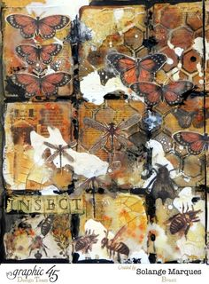 Solange Marques: G45 art journal pages: Insects