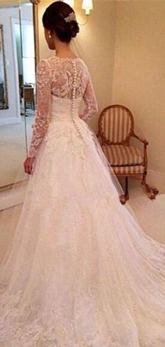 Popular Long Sleeves Lace A-line Cheap Wedding Dresses Online, – SposaDresses Cheap Wedding Dresses Online, Dresses To Wear To A Wedding, Wedding Dresses Plus Size, Cheap Prom Dresses, Stylish Dresses, Designer Wedding Dresses, Bridal Dresses, Wedding Gowns, Lace Wedding