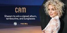 #CamCountry 's giving away a SIGNED album, sunglasses & tambourine! #Shazam her #ACMs