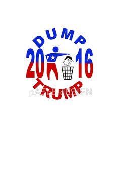 #Dump #Trump T-Shirt #Kleider von #pASob-dESIGN | #Redbubble http://www.redbubble.com/de/people/pasob-design/works/20320614-dump-trump?asc=u&c=509219-dump-trump&p=graphic-t-shirt-dress&rel=carousel @Redbubble