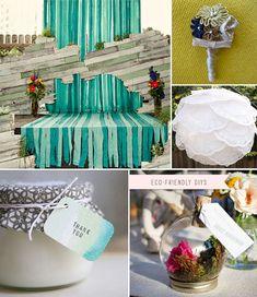 eco-friendly wedding! lol Not that I'm getting married, but I love their diy decor ideas