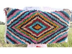 Colored Boucherouite Rug