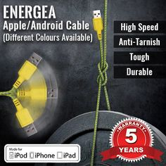 [S$6.90](▼57%)[Energea] Apple/Android Certified Cable ★Toughest Cable in the World - 5 Years Limited Warranty★