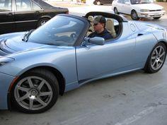 Matt Damon and his 2008 Tesla Roadster