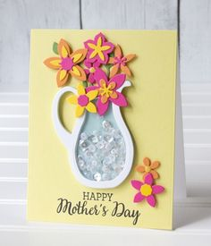 Happy Mother's Day by Jean Manis Mothers Day Cards, Happy Mothers Day, Happy Mother's Day Card, Personalized Mother's Day Gifts, Cricut Cards, Shaker Cards, Card Making Inspiration, Card Tags, Diy Cards