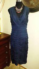 TADASHI SHOJI Blue Detailed SHEATH Dress , SZ 12 BEAUTIFUL!