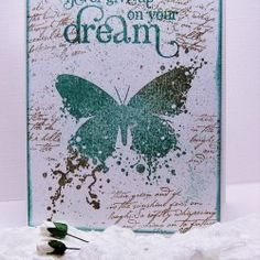 2015-09-12 Visible Image stamps - Inky Butterfly stamp - Never Give Up On Your Dream - Doreen OBrien