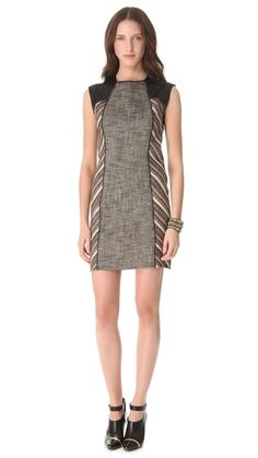 Cute but maybe too short for work; 10 Crosby Derek Lam Linen Lurex Sheath Dress | SHOPBOP
