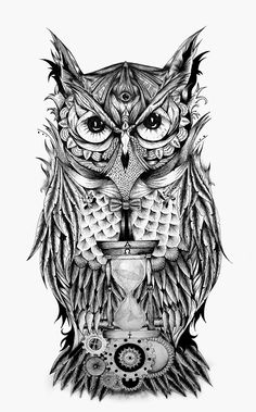 The Owl's time on Behance