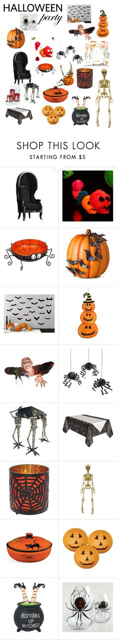"""""""Halloween Party👻☠️"""" by camber-weldon ❤ liked on Polyvore featuring interior, interiors, interior design, home, home decor, interior decorating, Improvements, Freddy, Meri Meri and Halloweenparty"""