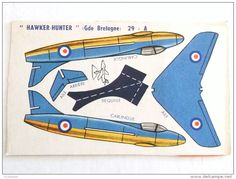 DECOUPAGE BANANIA AVION AVIATION  HAWKER - HUNTER GRANDE BRETAGNE 29 - A